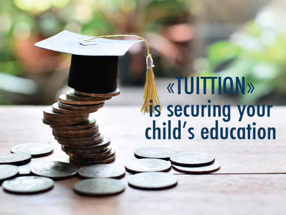 Securing your child's education, today.